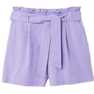 Mango Belted Shorts