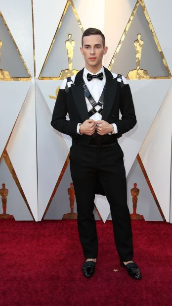 Adam Rippon in Moschino. Credit: Frazer Harrison/Getty Images via The Cut.