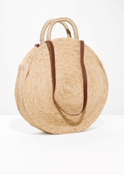 & Other Stories Straw Circle Bag