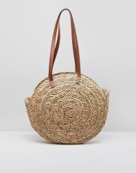Asos Design Straw Circle Bag