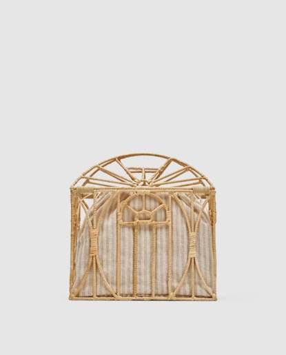 Zara Cage Straw Bag