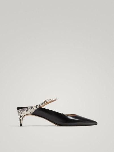 Massimo Dutti Slingback Kitten Heel Court Shoes